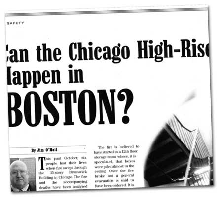 Banker & Tradesman -Can the Chicago High-rise Fire happen in Boston?