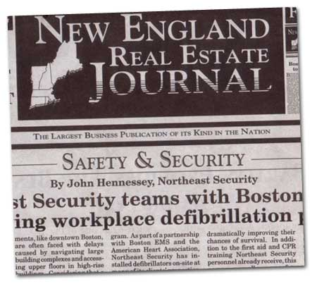 New England Real Estate Journal -Northeast Security teams with Boston EMS in a life saving workplace defibrillation program