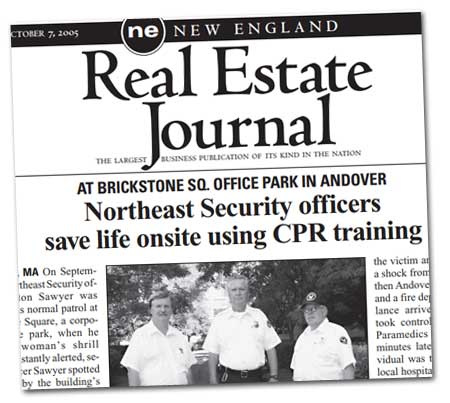 New England Real Estate Journal -Northeast Security officers save life onsite using CPR training