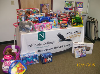 Northeast Security and Nichols College Team up this Holiday Season to Donate to Children in Need and Give Back to their Community